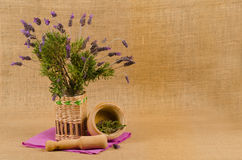 Lavendelstillleben Lizenzfreies Stockbild
