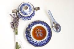 Lavendeltee Lizenzfreies Stockbild