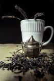 Lavendelthee Royalty-vrije Stock Afbeeldingen