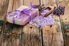 Lavendelzeep Royalty-vrije Stock Afbeelding