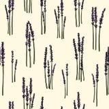 Lavendelzweigmuster Lizenzfreie Stockbilder