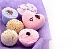 lavender έξι σαπούνια Στοκ φωτογραφία με δικαίωμα ελεύθερης χρήσης
