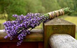 Lavender δέσμη στο μπαλκόνι Στοκ Εικόνες