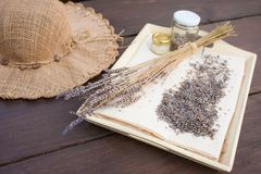 Lavender ανθίζει ξηρό στο σπίτι Στοκ φωτογραφία με δικαίωμα ελεύθερης χρήσης