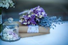 Lavender & βιβλία Στοκ Φωτογραφίες