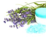 lavender καλλυντικών Στοκ Φωτογραφία