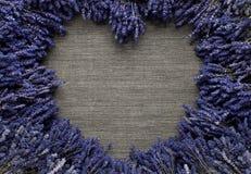 Lavender καρδιά Στοκ εικόνες με δικαίωμα ελεύθερης χρήσης
