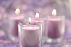 lavender κεριών Στοκ Φωτογραφία