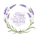 Lavender κομψή κάρτα Στοκ Εικόνες