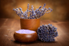 lavender λουτρών άλας Στοκ Εικόνες