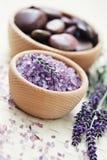 lavender λουτρών άλας Στοκ εικόνες με δικαίωμα ελεύθερης χρήσης