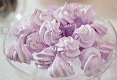Lavender μαρέγκας Στοκ φωτογραφία με δικαίωμα ελεύθερης χρήσης