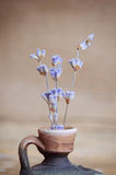 Lavender λουλούδι στο μπουκάλι στον ξύλινο πίνακα Στοκ φωτογραφίες με δικαίωμα ελεύθερης χρήσης