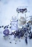 Lavender πετρέλαιο Στοκ Φωτογραφίες