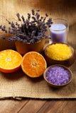 lavender πορτοκάλι μεταλλευμά&t Στοκ Φωτογραφίες