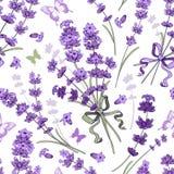 lavender πρότυπο άνευ ραφής Στοκ Φωτογραφία