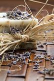 lavender σαπούνι Στοκ Φωτογραφίες