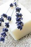 lavender σαπούνι Στοκ φωτογραφία με δικαίωμα ελεύθερης χρήσης