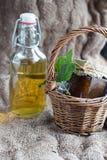 Lavender σιρόπι και μαρμελάδα σύκων Στοκ φωτογραφίες με δικαίωμα ελεύθερης χρήσης