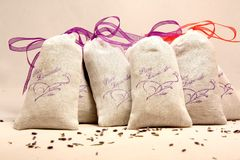 Lavender τσάντες Στοκ Εικόνες