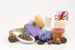 Lavender φυσικό σαπούνι, χειροποίητα σαπούνια από τις φυσικές πρώτες ύλες Στοκ φωτογραφία με δικαίωμα ελεύθερης χρήσης