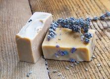 Lavender χειροποίητο σαπούνι Στοκ εικόνες με δικαίωμα ελεύθερης χρήσης