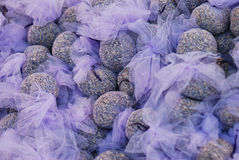 Lavender. In little sacks on a marked Stock Photos