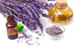 lavender πετρέλαιο Στοκ εικόνα με δικαίωμα ελεύθερης χρήσης