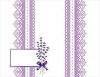 lavender δαντελλών παρόν Στοκ εικόνα με δικαίωμα ελεύθερης χρήσης
