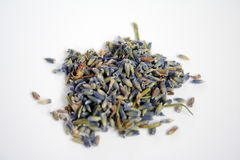Lavender. A pile of dried lavender. Can be used to prepare tea royalty free stock images