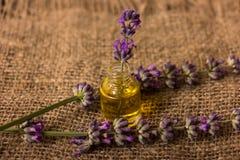 Lavender πετρέλαιο Στοκ φωτογραφία με δικαίωμα ελεύθερης χρήσης