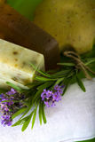 Lavender And Handmade Soap Stock Photo