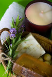 Lavender And Handmade Soap Stock Photos