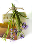 Lavender And Handmade Soap Stock Photography