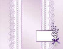 Lavender & Antique Lace Present Stock Photography