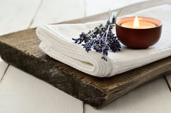 Lavender aroma theraphy Royalty Free Stock Images