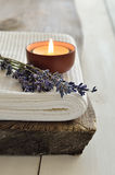 Lavender aroma theraphy Royalty Free Stock Image