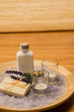 Lavender Aromatherapy καλλυντικά προϊόντα Στοκ Εικόνες