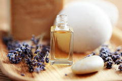 Lavender aromatherapy oil Stock Photography