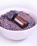 Lavender aromatherapy oil Stock Photos