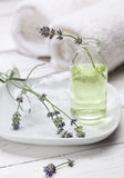Lavender Aromatherapy Oil stock image