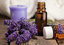 Lavender Aromatherapy Oil stock photo