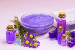 Lavender aromatherapy SPA έννοια Στοκ Φωτογραφία