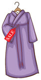 A lavender Asian dress for sale Stock Image