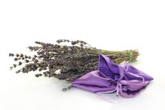 Lavender bag Stock Photography