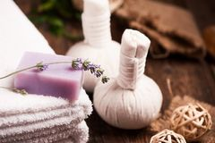 Lavender bar soap Stock Photo