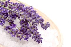 Lavender bath Royalty Free Stock Image