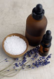 Lavender Bath. Essentials Stock Image