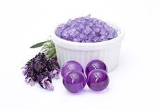 Lavender bath Stock Photo