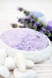 Lavender bath salt Stock Photo